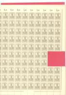 Reich  Michel # 102 **  Bogen Mit 10 X OR + DZ 1 - Deutschland
