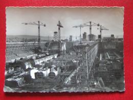 """68 - OTTMARSHEIM - """" E.D. F. - CHANTIERS D' OTTMARSHEIM """" - - """" ECLUSES- VUE D' AVAL - - FEVRIER 1950 """" - - Ottmarsheim"""