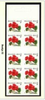 Boekje 32** Pelargonium Met 10 Keer 2850** Fleurs/ Bloemen / Flowers - Booklets 1953-....