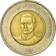 Monnaie, Dominican Republic, 10 Pesos, 2008, TTB, Bi-Metallic, KM:106 - Dominikanische Rep.
