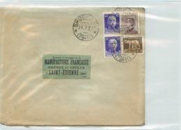 Lettre Des PAYS-bas -voyagée De Brugnato à St Etienne En 1929 - Marcofilía