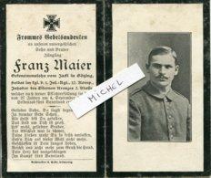 Ardennes. ST. ETIENNE A ARNES 1917 Sterbebild Avis Décès Soldat Allemand - 1914-18