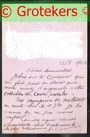 MONTREUX Embossed Card Sent 1902 From Trait-bon-port Montreux To Lyon (France) - VD Waadt