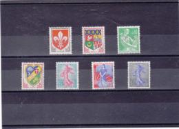 FRANCE 1960-1961 Yvert 1230-1234A NEUF** MNH Cote : 10 Euros - Francia