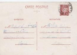 ENTIER PETAIN 1F20 MAISON CARREE ALGERIE 28/10/42 - REGIMENT D AFRIQUE - POUR CAUDERAN GIRONDE - Cartes Postales Types Et TSC (avant 1995)