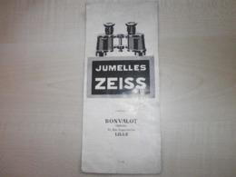 Ancienne Publicité JUMELLES ZEISS - Advertising