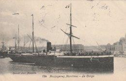LE CONGO  Messageries Maritimes  (  Alexandrie Egypte Pour Lille   Cachet Paquebot) - Paquebots