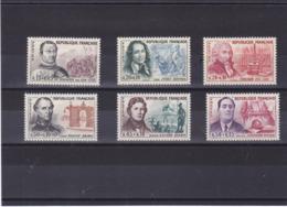 FRANCE 1961 Célébrités Yvert 1295-1300 NEUF** MNH Cote : 18 Euros - Unused Stamps