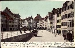 Cp Basel Schweiz, Une Rue, Maisons, Caleche - BS Bâle-Ville