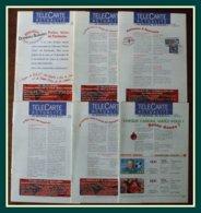 Lot 6 Télécarte Actualité BNVT France Telecom 1998 Janvier + Août à Décembre - Télécartes