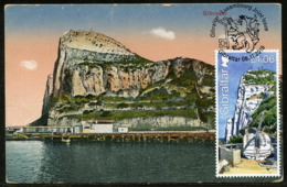 GIBRALTAR (2019). Carte Maximum Card - Joint Issue Luxembourg - Great Siege Tunnels, Schützende Tunnel, The Galleries - Gibilterra