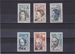 FRANCE 1962 Célébrités Yvert 1345-1350 NEUF** MNH Cote : 16 Euros - Unused Stamps