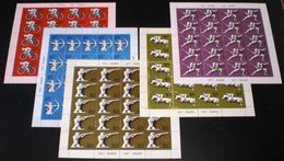 Sowjetunion/Russia 1977 Mi.4642-46 Olympische Spiele Moskau 5 KB /Sc.B 67-71 M/S Moscow Olympics 5 M/S Of 20 **/MNH - Unused Stamps