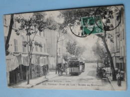 TOULON -- Lot 2 Cpa ANIMEES - TRAMWAYS Pont Du Las & Avenue Vauban - BEL ENSEMBLE - Tramways