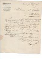 "Facture 1865 ""P. Soupplet & Gaillard"" Mercerie, Rubans De Soie - TTB - 1800 – 1899"