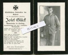 Ardennes.ST.ETIENNE A ARNES 1918 Sterbebild Avis Décès Soldat Allemand - 1914-18