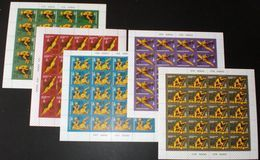 Sowjetunion/Russia 1978 Mi.4707-11 Olympische Spiele Moskau 5 KB /Sc.B 73-77 M/S Moscow Olympics 5 M/S Of 20 **/MNH - Unused Stamps
