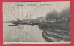 Burcht - Scheldezicht ... Binnenschip - 1906 ( Verso Zien ) - Zwijndrecht