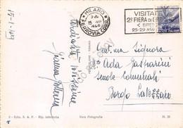 Cartolina Arona Lungolago Timbro A Targhetta Fiera Orzinuovi 1949 - Novara