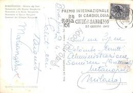 Cartolina Bordighera Statua Timbro A Targhetta Premio Cardiologia S.Remo 1961 - Imperia