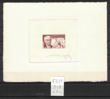 France - Yvert 1088 (Coubertin) épreuve D'artiste Signée - Scott#817 Signed Artist Die Proof (Olympic Games) - Prove D'artista