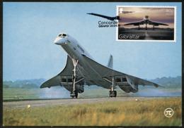 GIBRALTAR (2019). Carte Maximum Card - Concorde, 50th Anniversary - Supersonic Airplane, Avion, Aérospatiale-BAC - Aviones