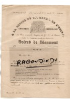 27 - GISORS - FRANC-MACONNERIE - FRERES DE BLANMONT Doc De 1858 Pour Info De L'inst  De La LOGE - CACHET RARE - Unclassified