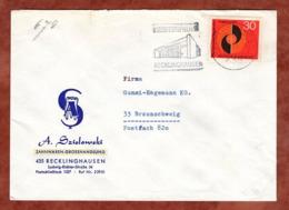 Vordruckumschlag Zahnwaren, Oekumenisches Pfingsttreffen Augsburg, MS Recklinghausen, Nach Braunschweig 1971 (82258) - Storia Postale