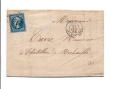 PLI DE LYON LES TERREAUX 1864 - Poststempel (Briefe)