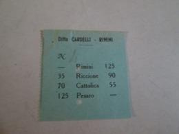Biglietto Bus RIMINI-PESARO Ditta Cardelli -rimini  Anni 40/50 - Bus