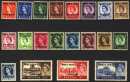 1957-(MLH=*) Morocco Agencies S.20v. British Stamps Surcharged 1857 1957 Tangier SG 323/42 (i Numeri 323 E 324 With Ligh - Offices: Morocco
