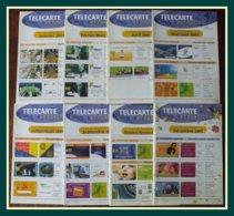 Lot 8 Télécarte Actualité BNVT France Telecom 2001 Janvier à Décembre - Télécartes