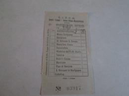Biglietto Bus MACERATA FELTRIA-CATTOLICA Ditta S.A.P.U.M Anni 40/50/60 - Bus