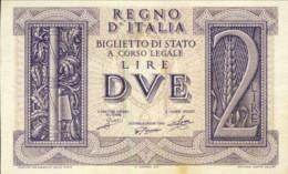 1939-Lire 2 Imperiale Vittorio Emanuele III Regio Decreto Del 14 Novembre Qualita' FDS - [ 1] …-1946 : Kingdom