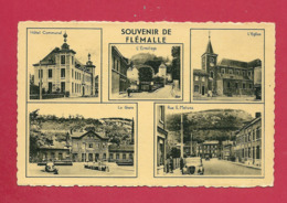 C.P. Flémalle = Hôtel Communal - Ermitage - Eglise - Gare - Rue  E. Malvoz - Flémalle