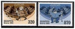 Belarus 2004 . EUROPA 2004(Mushrooms,Fish). 2v: 320, 870 - Bielorussia