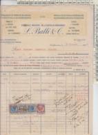 CASTELFIORENTINO FIRENZE 1926 L. BALLI & C. MARCHE DA BOLLO REGNO - Italie