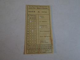 Biglietto Bus TERNI-MADONNA DI CORVAIANO Societa Per Le Tranvie Elettriche Di Terni Anni 40/50/60 - Bus