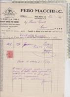 PIPE TABACCHI FATTURA FABBRICA PIPE 1929 FEBO MACCHI & C. - Documenti