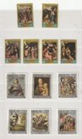 23 Sellos Cancelados. España. Laos. Pintores. Picasso. Rafael. Correggio. Goya. Murillo. Velásquez. Zurbarán. 1983-1989 - Picasso
