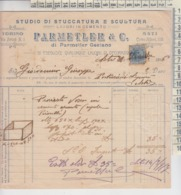 ASTI 1916 SCULTURA STUCCATURA FATTURA PARMETLER & C. - Documenti