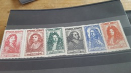 LOT 479787 TIMBRE DE FRANCE NEUF** LUXE N°612 A 617 - Unused Stamps