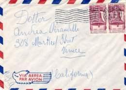 1958-lettera Per Gli USA Coppia L.60 XV Anniversario Della Vittoria - 6. 1946-.. Repubblica