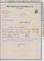 MACCAGNO LUINO LAGO MAGGIORE FATTURA ARTI GRAFICHE FUMAGALLI 1924 - Dokumente