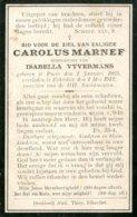 Dp. Marnef Carolus. Echtg. Vyvermans Isabella. ° Puers 1825 † Eikevliet 1912 - Religion &  Esoterik