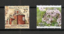 SERBIA 2019,ZICA MONESTERY,DEFINITIVE STAMP,RELIGION,FLORA,APIS,BEE,MNH - Serbien