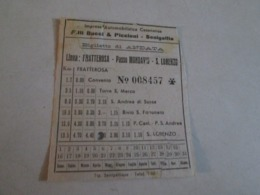 Biglietto Bus FRATTEROSA-passo MONDAVIO-SAN LORENZO Autolinee Fratelli Bucci E Piccioni   Anni 40/50/60 - Europa