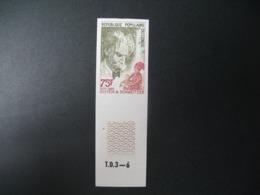 Timbre ND non Dentelé Neuf ** MNH - Imperf    Célébrités  Albert Schweitzer  Congo      N°400 - Albert Schweitzer