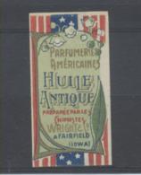 PETITE ETIQUETTE ANNEES 30 D`HUILE ANTIQUE DE LA PARFUMERIE AMERICAINE - Etiquettes