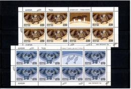 Belarus 2004 .EUROРА. 2 M/S  Of 7 + Label (Mushrooms,Fish).  Michel # 543-44 HB - Bielorussia